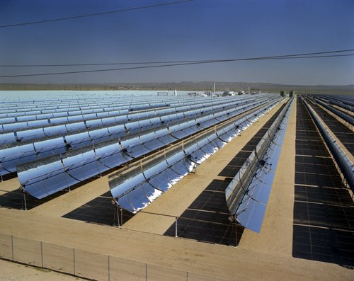 Figure 1. Parabolic Trough Concentrating Solar Collector at Kramer Junction, California