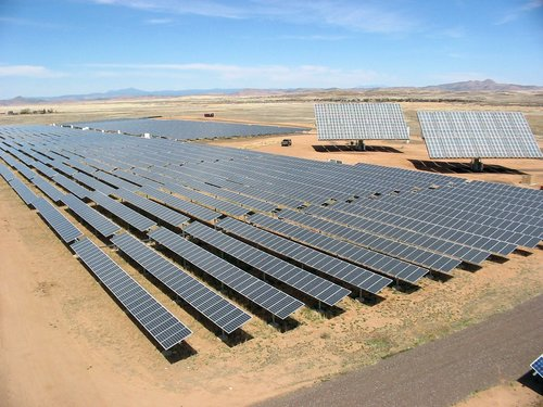 Figure 2. Utility-scale PV, Single-axis Tracking Collector Totaling 2 MW at Prescott, Arizona